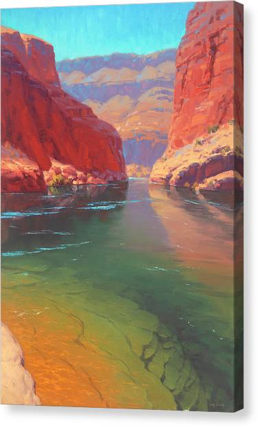 Canyon Canvas Print - Clear Currents by Cody DeLong