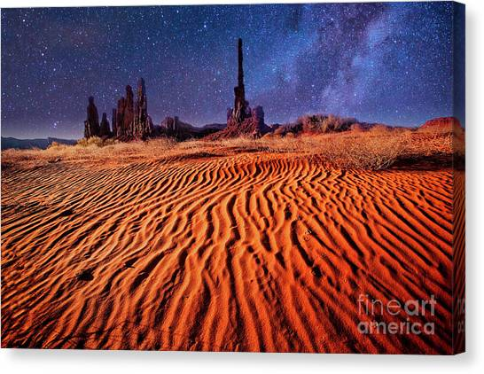 Clear Night Canvas Print