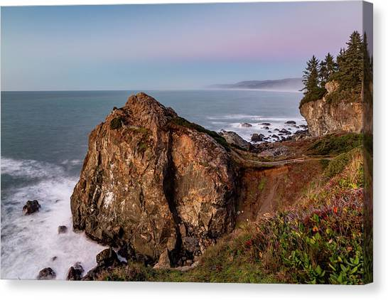 Clear Sunset At Wedding Rock Canvas Print