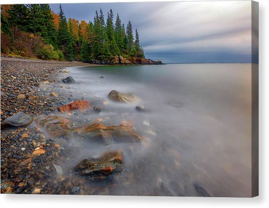 Canvas Print featuring the photograph Clearing Storm At Owl's Head by Rick Berk