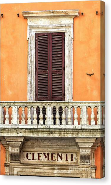 Clementi Rome Italy Canvas Print by John Rizzuto