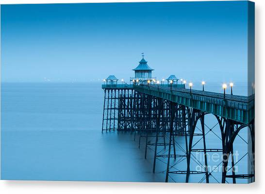 Bristol Canvas Print - Cleve Don Pier, Early Morning by Edmond Holland
