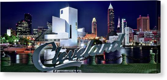 Art In America Canvas Print - Cleveland Ohio 2019 by Frozen in Time Fine Art Photography