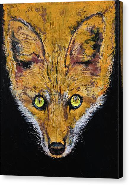 Sly Canvas Print - Clever Fox by Michael Creese
