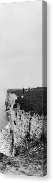 Cliff Climbers Canvas Print by Alfred Hind Robinson