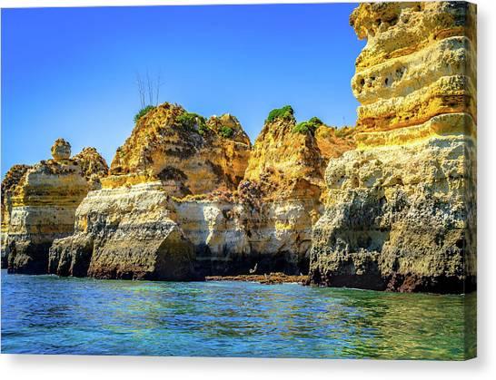 Cliff Of Lagos I Canvas Print