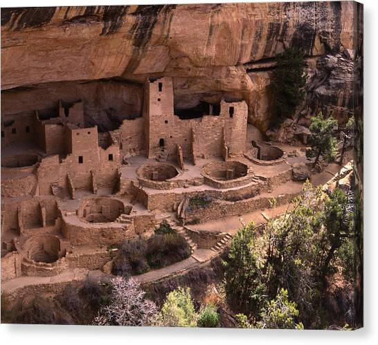 Verde Canvas Print - Cliff Palace, Mesa Verde National Park by James Gritz