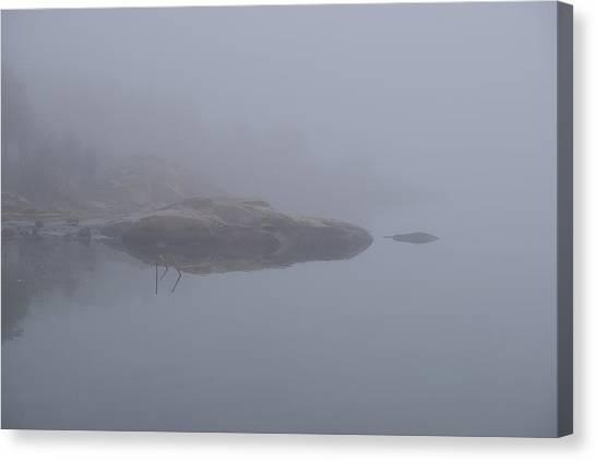 Cliffs In Fog Canvas Print