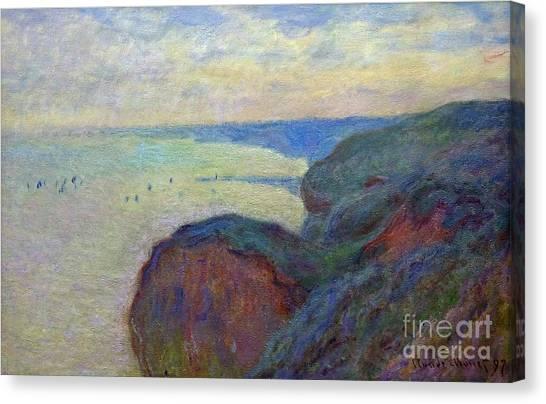 State Hermitage Canvas Print - Cliffs Near Dieppe by Peter Barritt