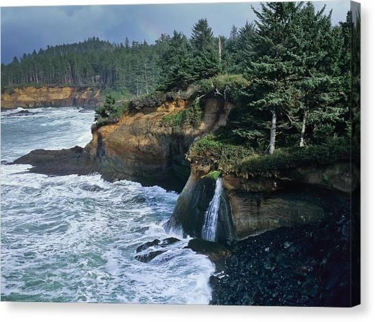 Cliffs Of Boiler Bay Canvas Print