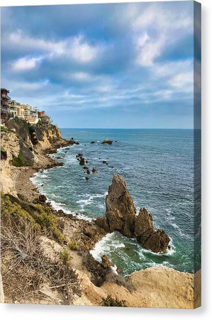 Cliffs Of Corona Del  Mar Canvas Print