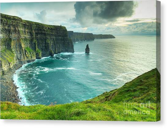 Cliffs Canvas Print - Cliffs Of Moher At Sunset, Co. Clare by Kwiatek7