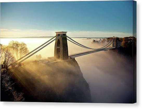 Bristol Canvas Print - Clifton Suspension Bridge by Paul C Stokes
