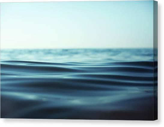 Close-up Of Rippling Water Surface Canvas Print