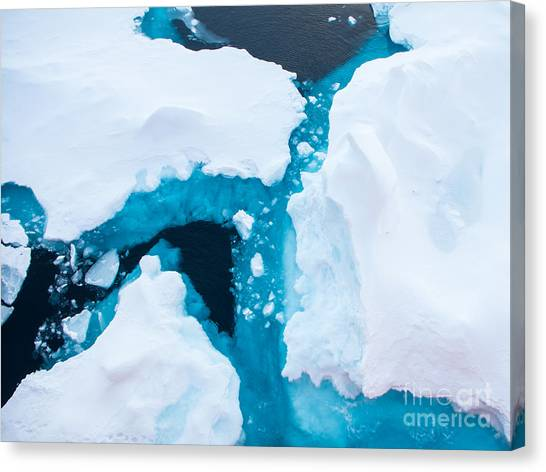 Change Canvas Print - Close Up Photo Of Beautiful Blue Ice In by Mikhail Varentsov