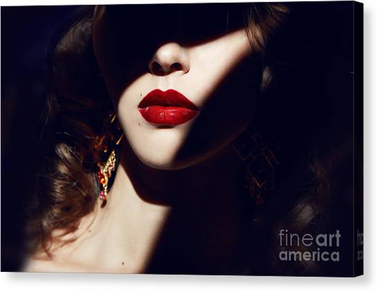 Style Canvas Print - Closeup Of The Face Belong To Beautiful by Indira's Work