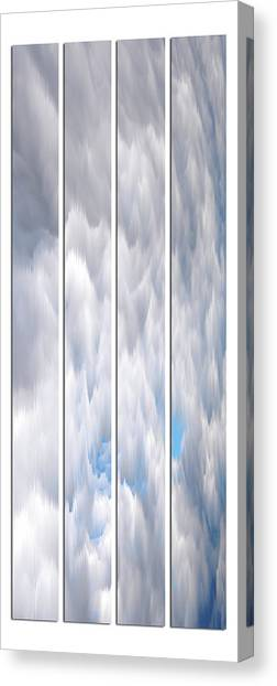 Canvas Print featuring the photograph Cloud Abstract by Angie Tirado