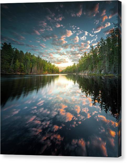 Canvas Print featuring the photograph Cloud Atlas / Boundary Waters, Minnesota  by Nicholas Parker