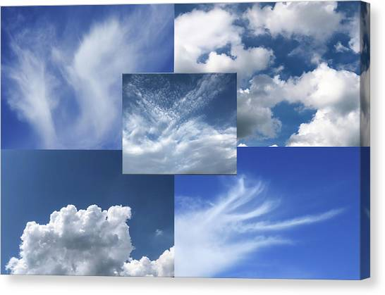 Cloud Collage Two Canvas Print