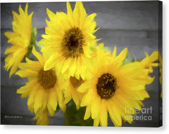 Cloud Of Sunflowers Canvas Print