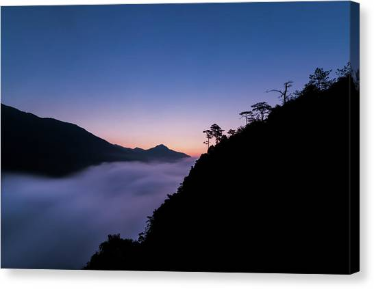 Canvas Print featuring the photograph Cloud River Twilight by William Dickman