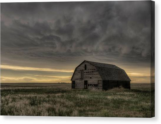 Clouds And Barn Canvas Print