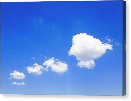 Clouds In A Blue Sky, Valensole Canvas Print by F. Lukasseck