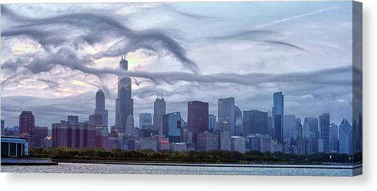 Clouds That Ate Chicago Canvas Print