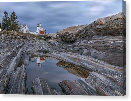 Cloudy Afternoon At Pemaquid Point Canvas Print