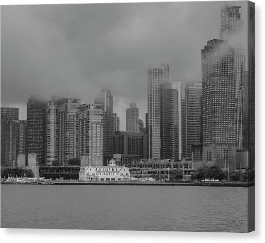 Cloudy Skyline Canvas Print