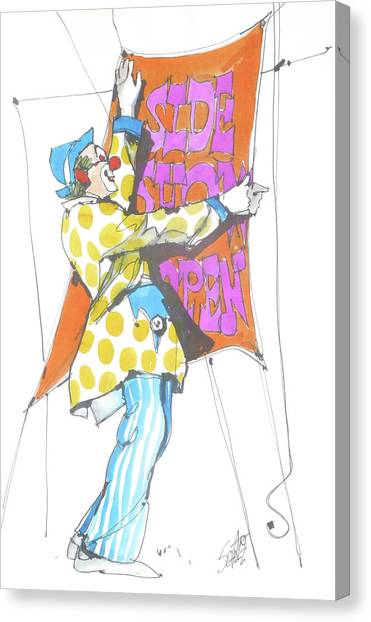 Clown Canvas Print by Art Scholz