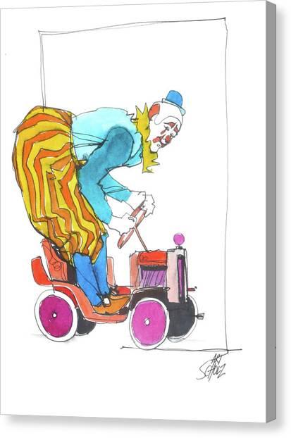 Clown's Car Canvas Print by Art Scholz