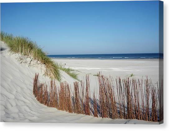 Canvas Print featuring the photograph Coast Ameland by Anjo Ten Kate