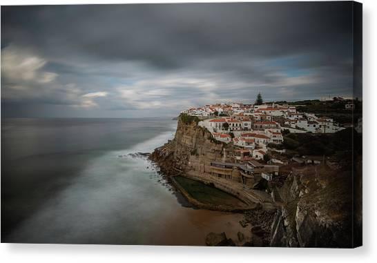 Coastal Village Of Azenhas Do Mar In Portugal Canvas Print