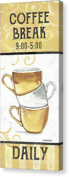 Canvas Print - Coffee Break 2 by Debbie DeWitt