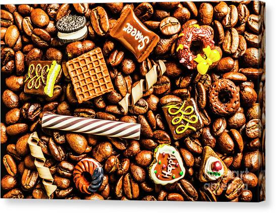 Doughnuts Canvas Print - Coffee Candy by Jorgo Photography - Wall Art Gallery