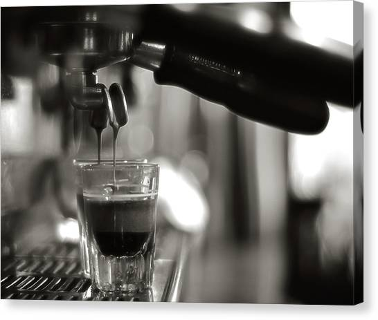 Coffee In Glass Canvas Print