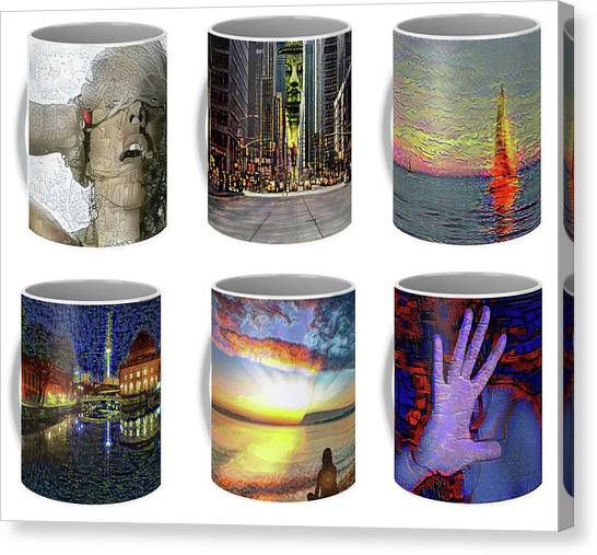 Coffee Mugs Samples Canvas Print