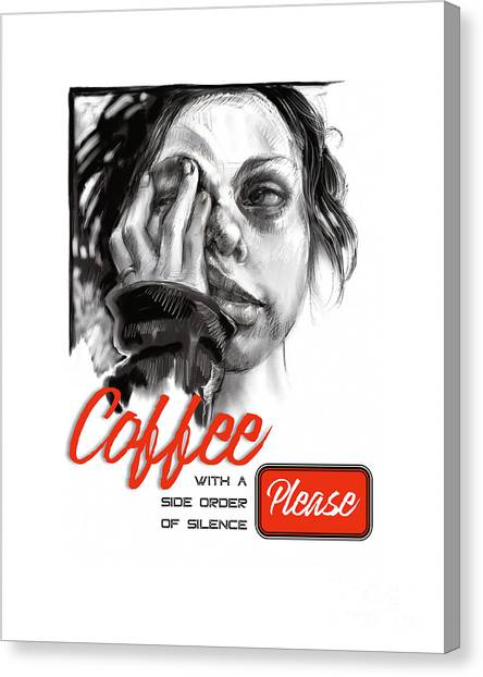 Coffee With A Side Canvas Print