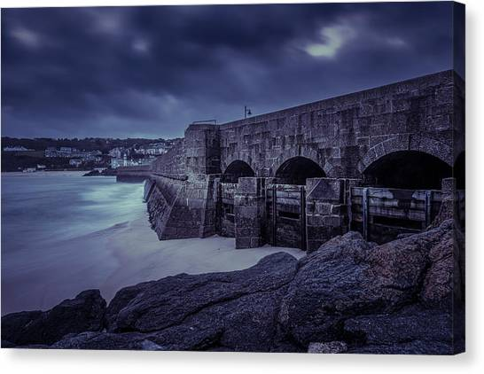 Cold Mood On The Pier Canvas Print