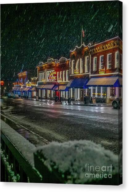 Cold Night In Cripple Creek Canvas Print