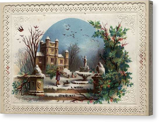 Collecting Holly Canvas Print by Hulton Archive