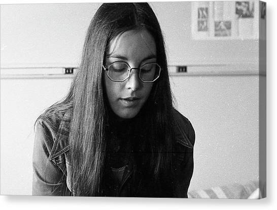 College Student With Octagonal Eyeglasses, 1972 Canvas Print