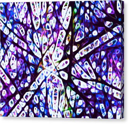 Collision 1 Purple Canvas Print