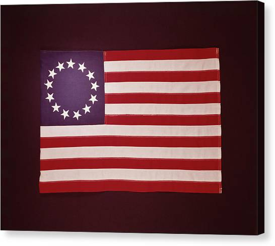 Colonial Us Flag Canvas Print by H. Armstrong Roberts