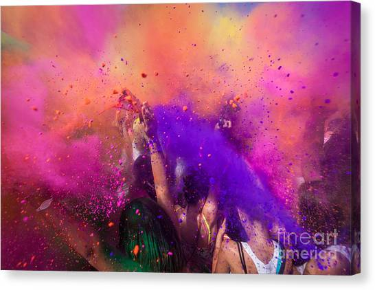 Worship Canvas Print - Color Festival by Adam Filipowicz