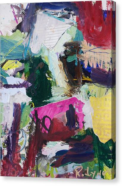 Colorful Abstract Cow Painting Canvas Print
