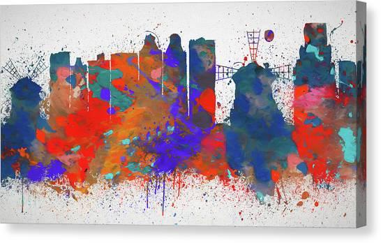 Rijksmuseum Canvas Print - Colorful Amsterdam Skyline by Dan Sproul