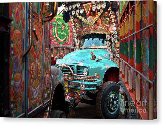Truck Art Canvas Print