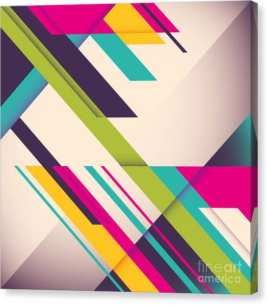Purple Canvas Print - Colorful Background With Designed by Radoman Durkovic